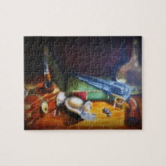 bodegón still-life padre abuelo despacho vintage puzzle con fotos