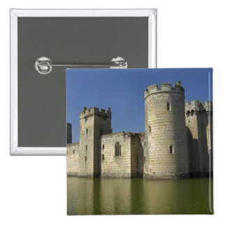 Bodiam Castle (1385), reflected in moat, East 15 Cm Square Badge