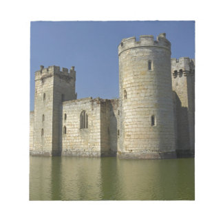 Bodiam Castle (1385), reflected in moat, East Notepad