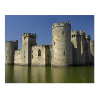Bodiam Castle (1385), reflected in moat, East Postcard