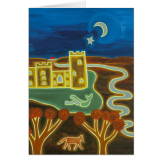 Bodiam Castle by Moonlight 2010 Card