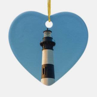 Bodie Island Light. Ceramic Heart Decoration
