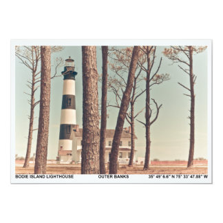 Bodie Island Lighthouse. 5x7 Paper Invitation Card