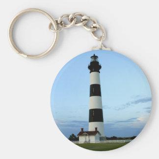 Bodie Island Lighthouse Basic Round Button Key Ring