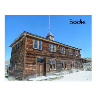 Bodie School, CA Postcard