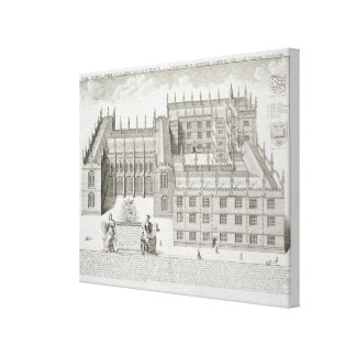 Bodleian Library, Oxford, from 'Oxonia Illustrata' Canvas Print