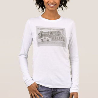 Bodleian Library, Oxford, from 'Oxonia Illustrata' Long Sleeve T-Shirt