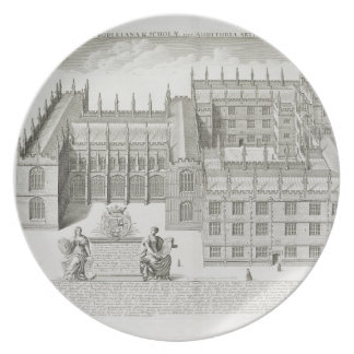 Bodleian Library, Oxford, from 'Oxonia Illustrata' Plate