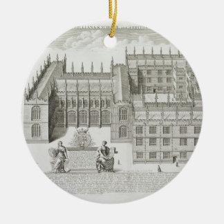 Bodleian Library, Oxford, from 'Oxonia Illustrata' Round Ceramic Decoration