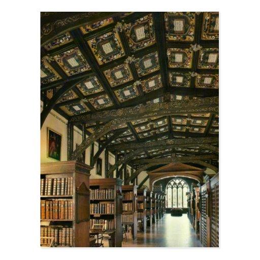 Bodlein Library, Oxford University, England Postcard