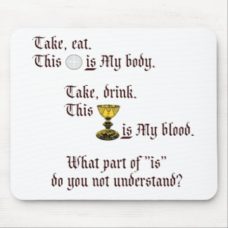 Body and Blood Mouse Mat
