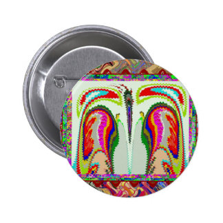 Body and Soul Abstract Graphic Art 6 Cm Round Badge