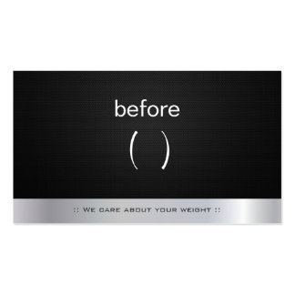 Body Before and After Weight Loss Coach Trainer Pack Of Standard Business Cards