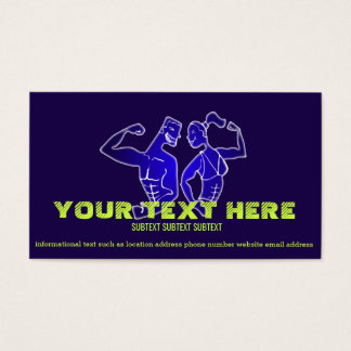 """BODY BUILDER Business Card, 3.5"""" x 2.0"""", 100 pack"""