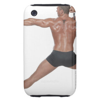 Body Builder in Lunge Pose Tough iPhone 3 Cover