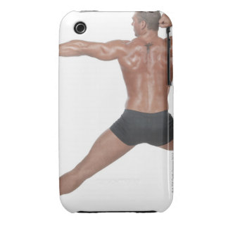 Body Builder in Lunge Pose iPhone 3 Covers