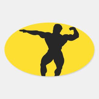 """Body builder"" Oval Sticker"
