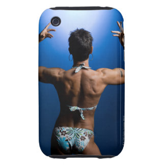 Body builder posing iPhone 3 tough cases