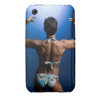 Body builder posing Case-Mate iPhone 3 cases