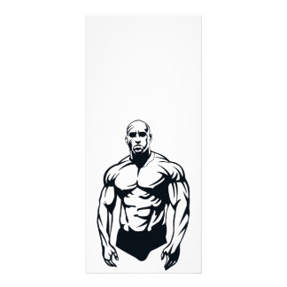 body-builder_vector_image man muscular sports rack cards