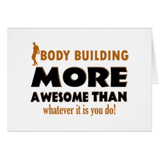 Body building gift items card