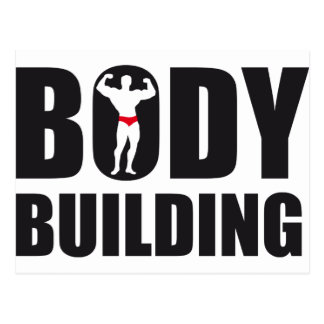 body building postkarte