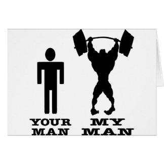 Body Building Your Man vs My Man Card