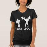 Body Building Your Man vs My Man T Shirts