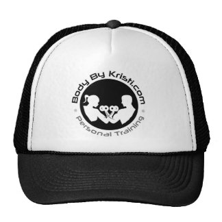 Body By Kristi Trucker Hat-Black/White Cap