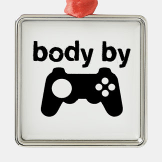 Body By Video Games Silver-Colored Square Decoration