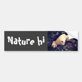 body in the woods car bumper sticker