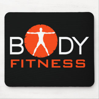 Body Madness Black Fitness Gym Junkie Mouse Pads