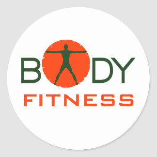 Body Madness Fitness Custom Round Stickers