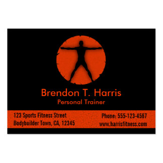 Body Madness Fitness Instructor Large Biz Card Pack Of Chubby Business Cards