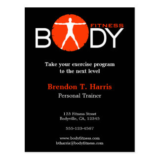 Body Madness Fitness Personal Trainer Postcards