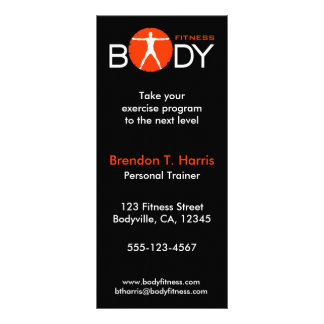 Body Madness Fitness Personal Trainer Rack Cards Custom Rack Cards