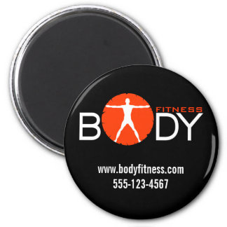 Body Madness Fitness Personal Trainer Round Magnet Magnet