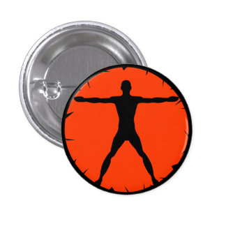 Body Madness Fitness Vitruvian Man Round Button