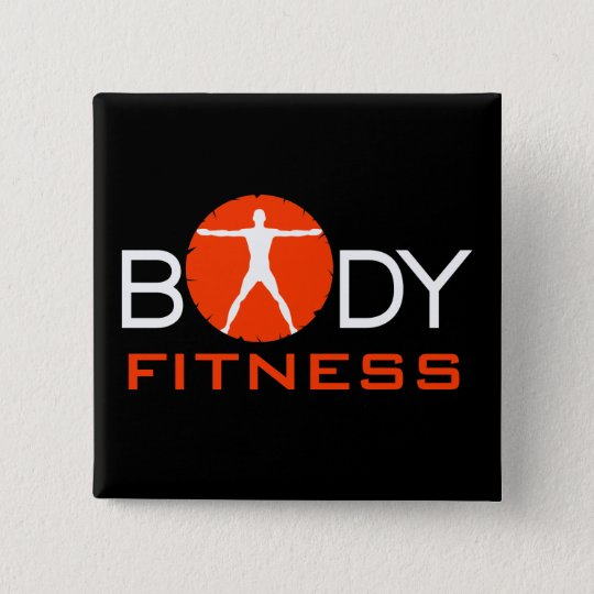 Body Madness Fitness Vitruvian Man Square Buttons