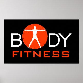 Body Madness Fitness Vitruvian Muscle Man Posters