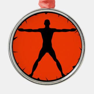 Body Madness Vitruvian Man Premium Round Ornament Christmas Tree Ornaments