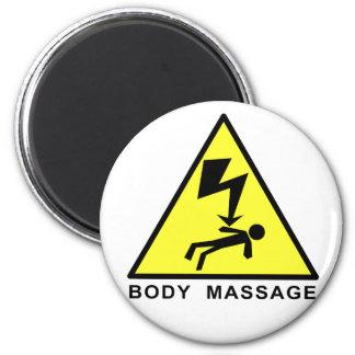 Body Massage Sign 6 Cm Round Magnet