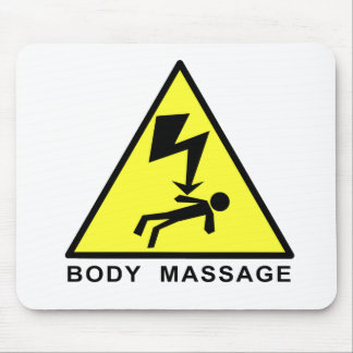 Body Massage Sign Mouse Pads