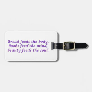 Body, Mind, and Soul Tag For Bags