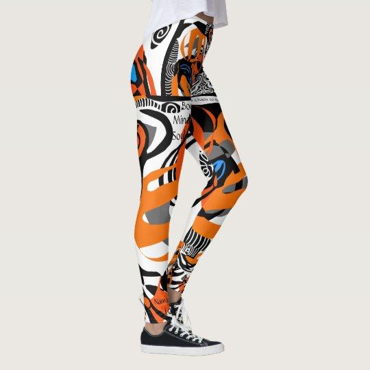 Body Mind Soul allover print Leggings