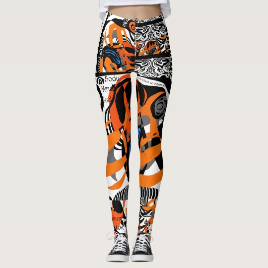 Body Mind Soul allover print Leggings