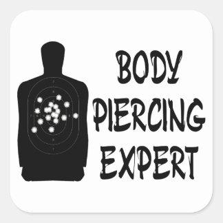Body Piercing Expert Square Sticker