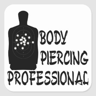 Body Piercing Professional Square Sticker