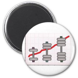 Body progress 6 cm round magnet