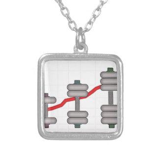 Body progress square pendant necklace